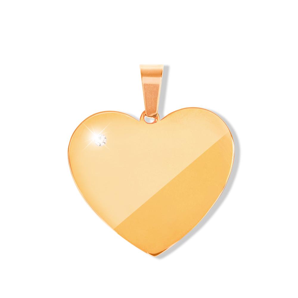 Anhänger Herz mit Stein L goldfarben