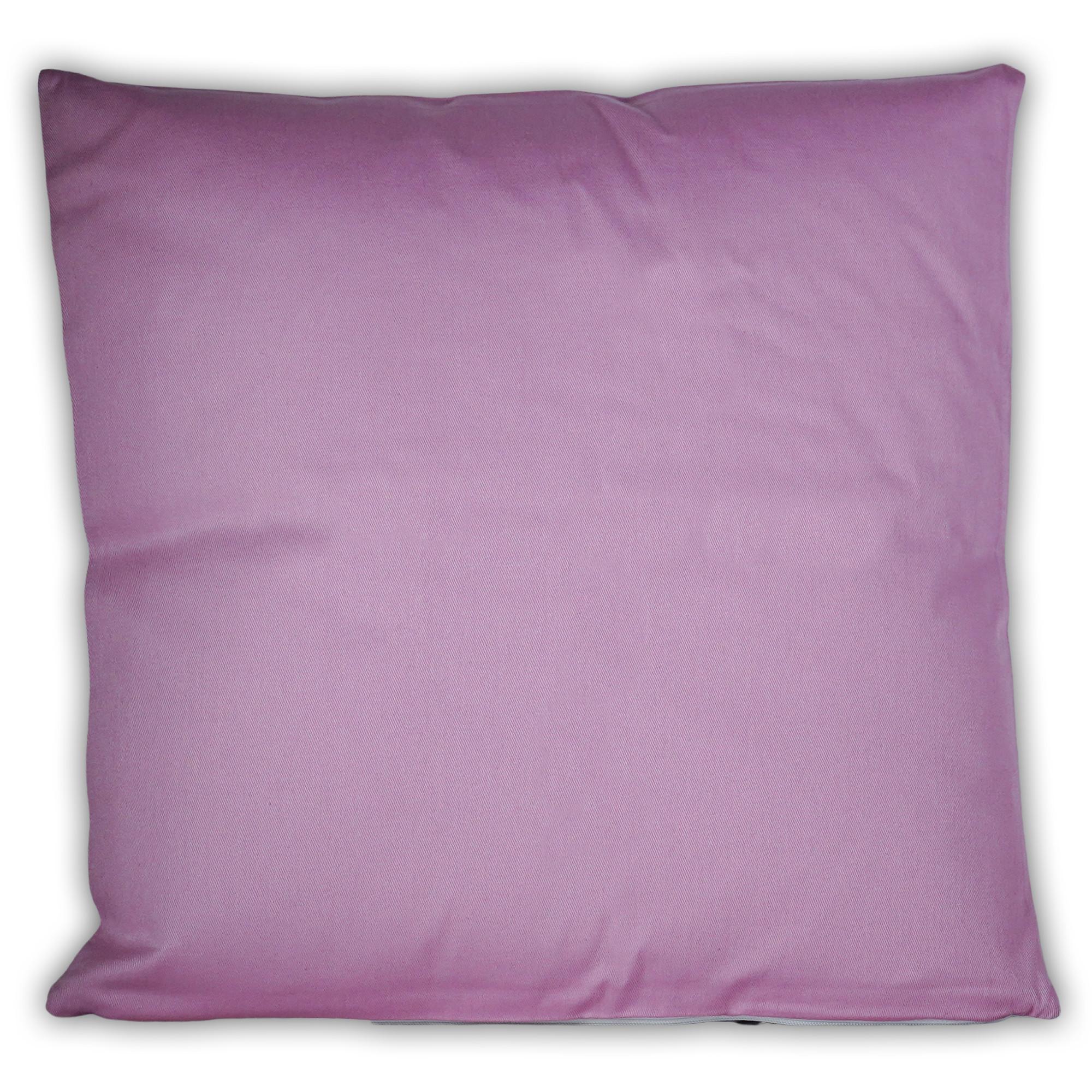 Fotokissen quadratisch zweifarbig rosa
