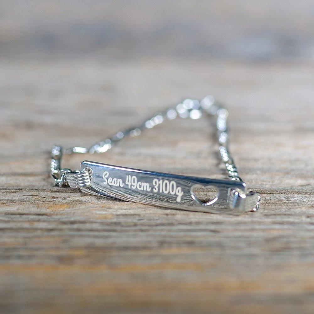 Herz-Armband mit Gravur silber aus 925er Sterlingsilber