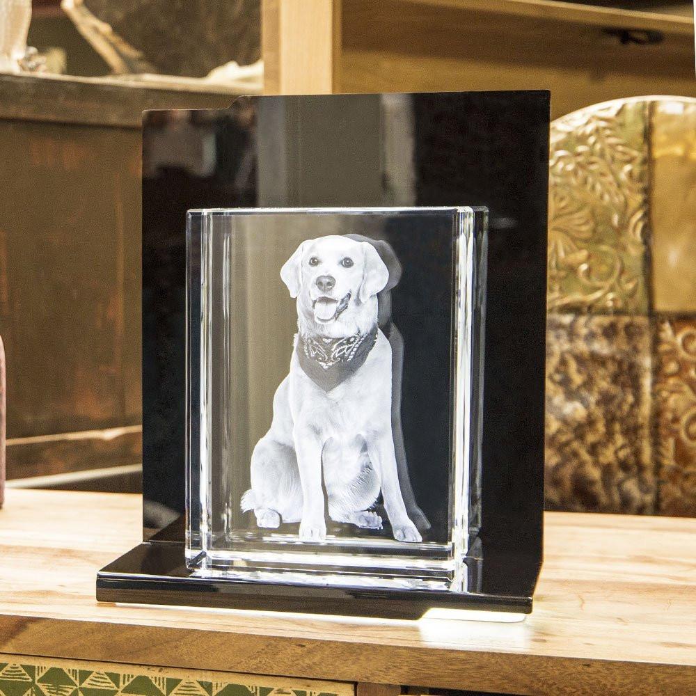 Opera Beleuchtungselement Prelude für den Terra im Hochformat - Das 3D Laser Foto im Terra Viamant Glas ist nicht im Lieferumfang enthalten