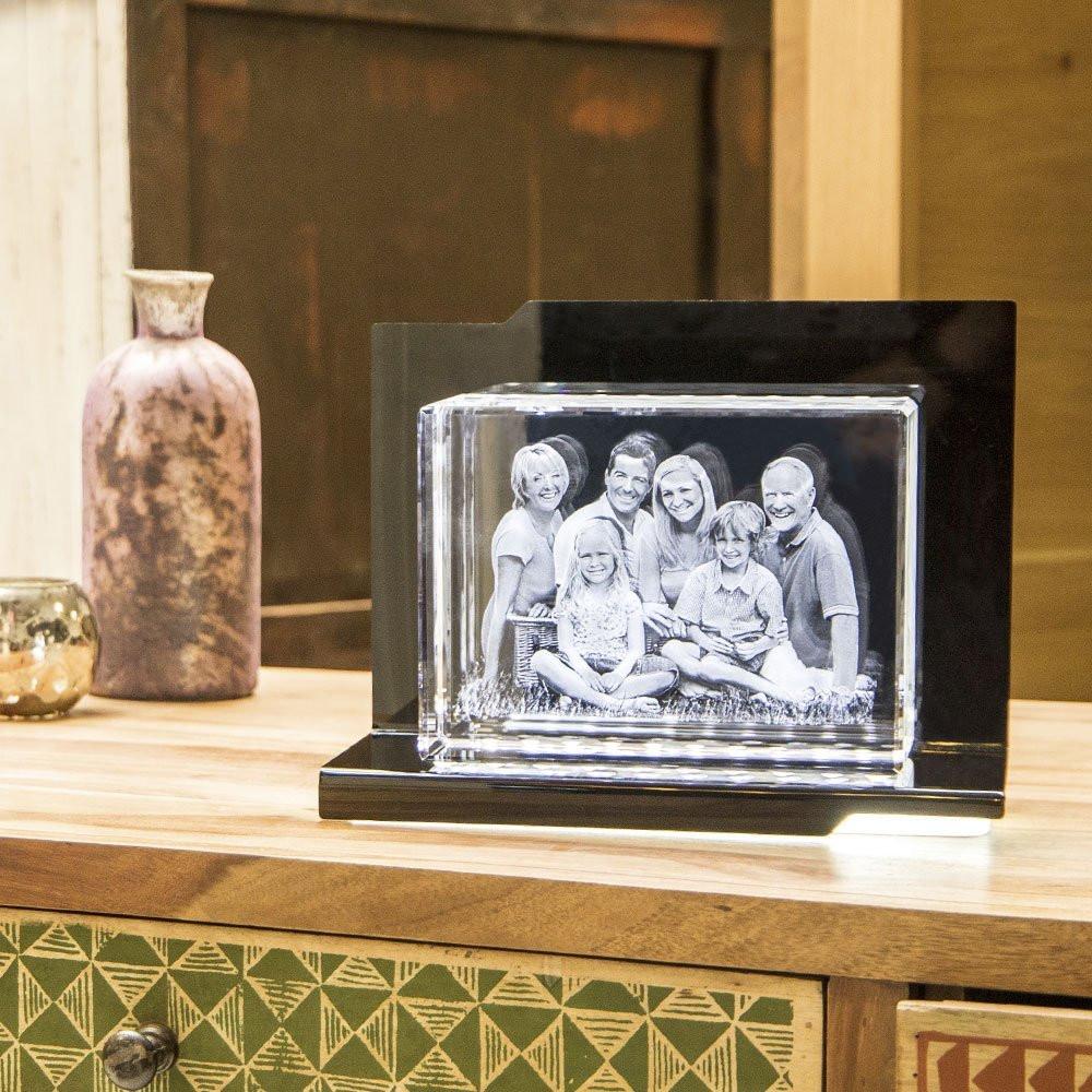 Opera Beleuchtungselement Serenata für den Big Block im Querformat - Das 3D Laser Foto im Big Block Viamant Glas ist nicht im Lieferumfang enthalten