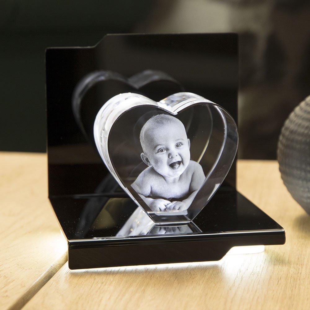 Opera Beleuchtungselement Virtuoso für das Herz L - Das 3D Laser Foto im Herz aus Viamant Glas ist nicht im Lieferumfang enthalten