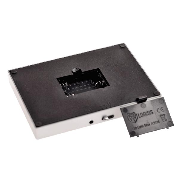 Betrieb mittels AAA Batterien oder Netzadapter möglich