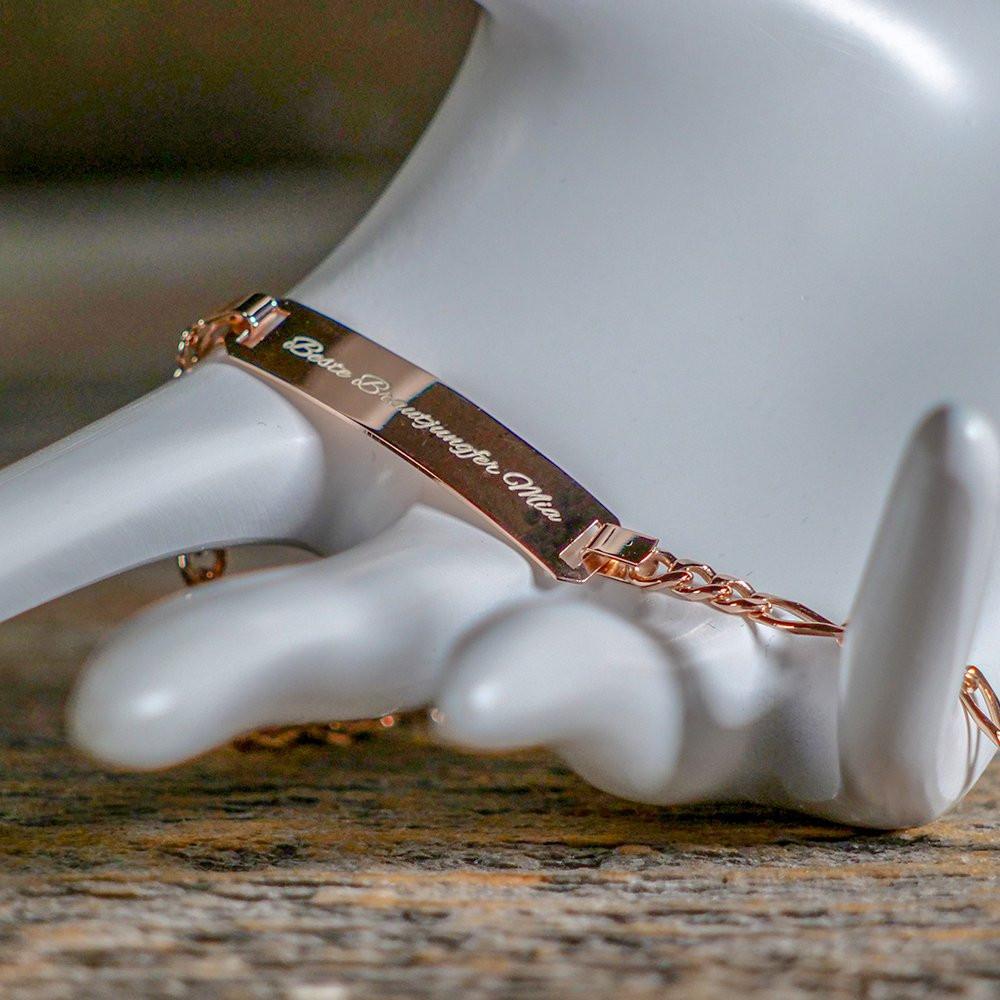Armband mit Gravur roségold aus 925er Sterlingsilber