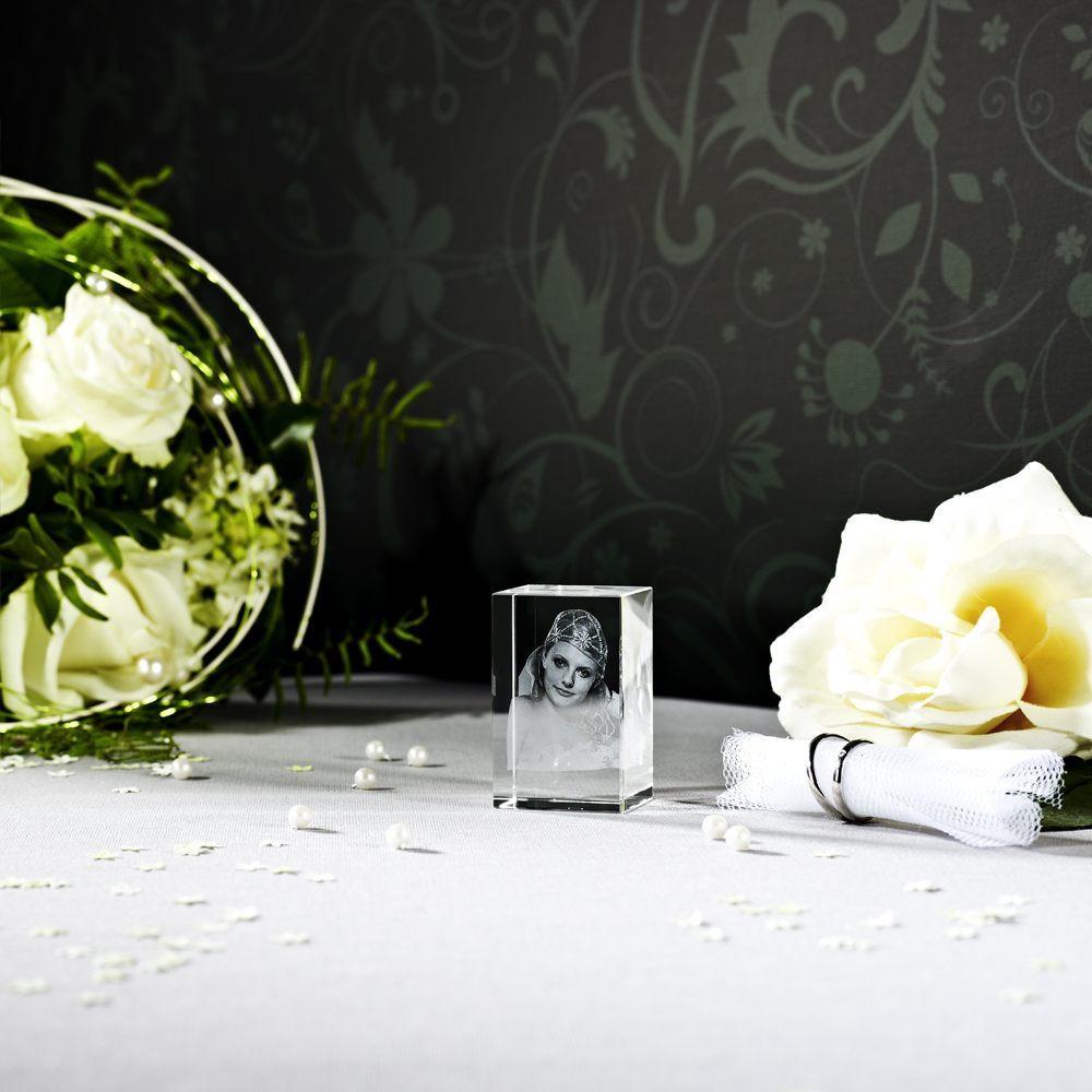 3D Foto im Glas zur Hochzeit