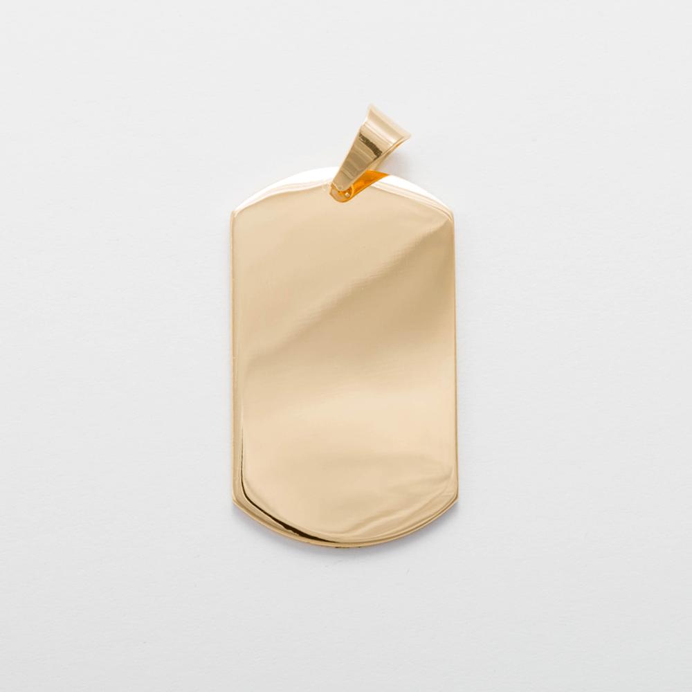 Edelstahl-Anhänger personalisiert mit Text oder Foto - Dog Tag XL, goldfarben