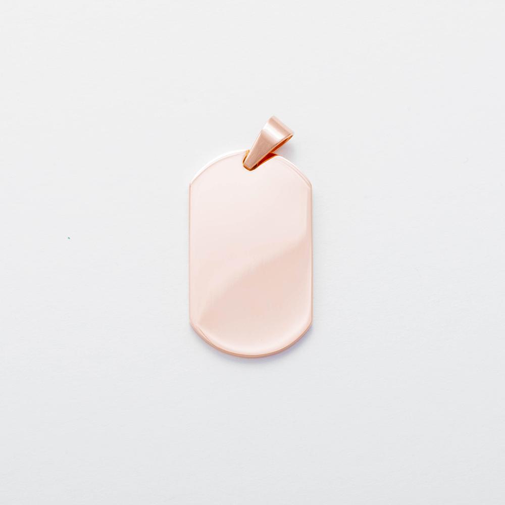 Edelstahl-Anhänger mit persönlichem Foto - Dog Tag L, roségoldfarben