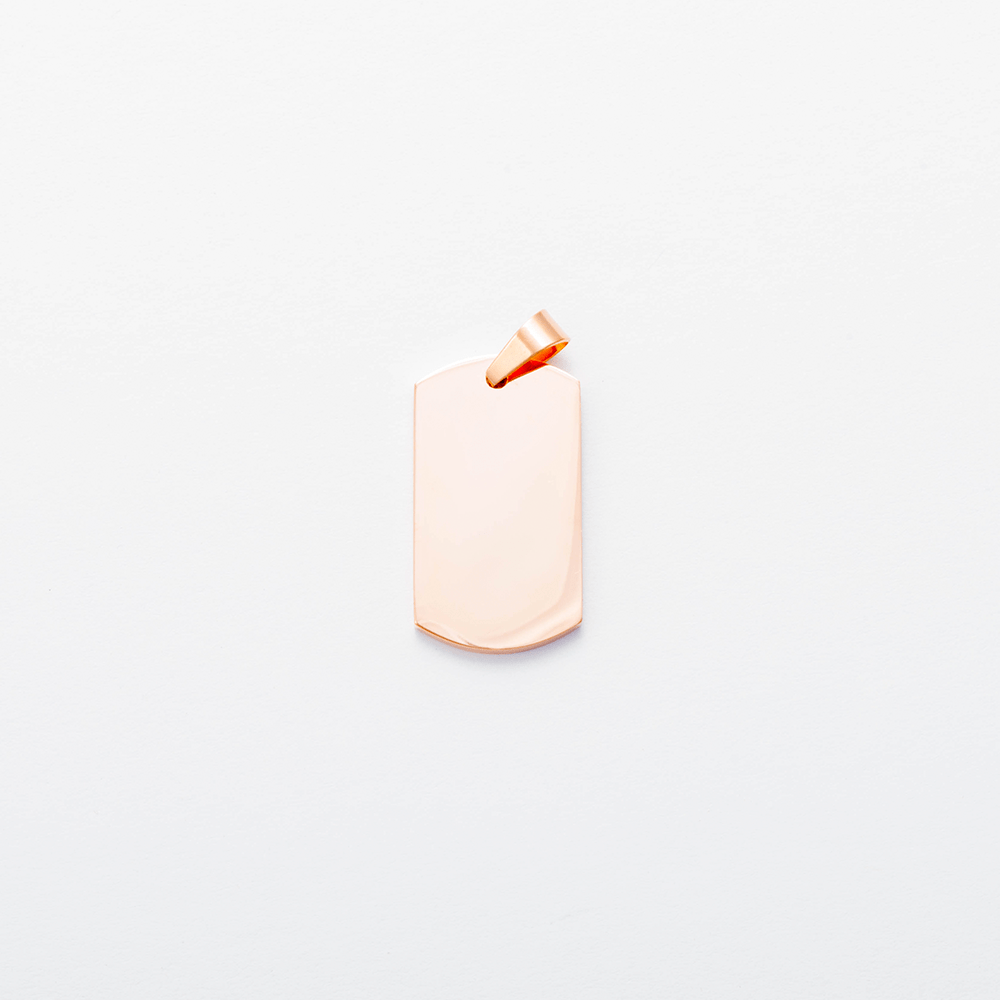 Edelstahl-Anhänger personalisiert mit Ihrem Foto - Dog Tag M, roségoldfarben