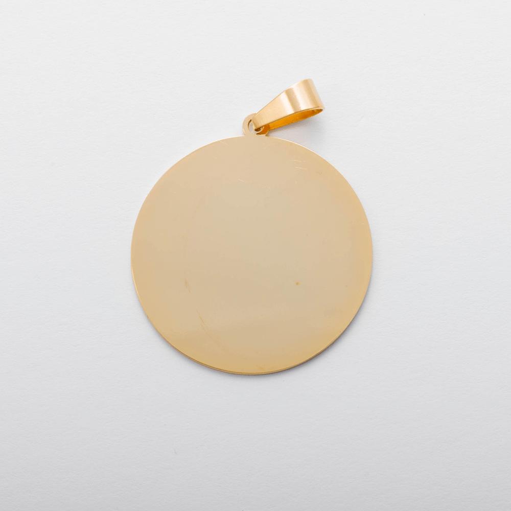 Edelstahl-Anhänger mit Wunschgravur - Rund L, goldfarben