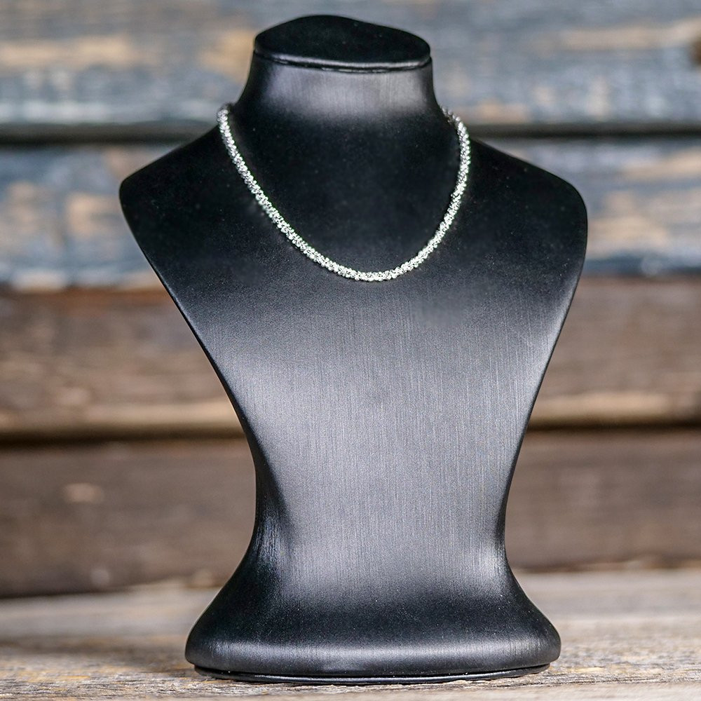 Silberkette mit Federring breit, 925 Sterling Silber, 40+5 cm