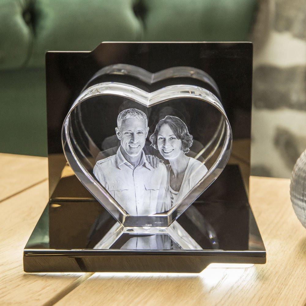Opera Beleuchtungselement Sonata für das Herz XL - Das 3D Laser Foto im Herz aus Viamant Glas ist nicht im Lieferumfang enthalten