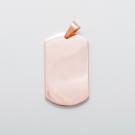 Edelstahl-Anhänger mit Lasergravur - Dog Tag XL, roségoldfarben