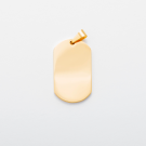 Edelstahl-Anhänger graviert mit Ihrem Wunschmotiv - Dog Tag L, goldfarben
