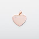 Edelstahl-Anhänger personalisiert mit Text oder Foto - Herz mit Swarovski-Stein L, roségoldfarben