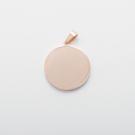 Edelstahl-Anhänger personalisiert mit Wunschmotiv - Rund M, roségoldfarben