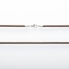 Leder Halsband, braun, 80 cm lang, 3 mm dick