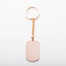 Schlüsselanhänger Edelstahl dog tag XL, roségoldfarben