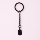 Schlüsselanhänger Edelstahl dog tag S, schwarz