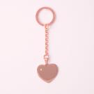 Schlüsselanhänger Edelstahl Herz mit Swarovski-Stein L, roségoldfarben