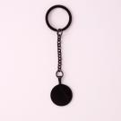 Schlüsselanhänger Edelstahl Rund M, schwarz