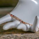 Herz-Armband mit Gravur roségold aus 925er Sterlingsilber