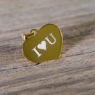 Silber-Anhänger mit eigener Gravur - Herz, vergoldet