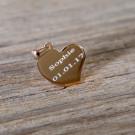 Silber-Anhänger mit persönlicher Gravur - Geschwungenes Herz, rosévergoldet
