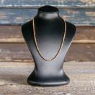 Silberkette mit Federring breit, 925 Sterling Silber/Rosévergoldet, 40+5 cm