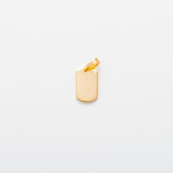 Edelstahl-Anhänger graviert mit Foto oder Text - Dog Tag S, goldfarben