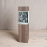 Illuminated Column for Giga (portrait format), 'Ceramic Wood' finish