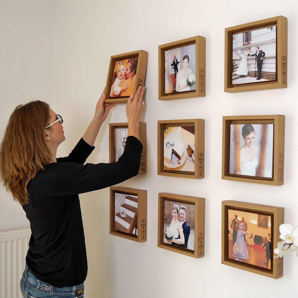 Pappino macht sich prima an der Wand mit einer ganzen Serie an Fotos
