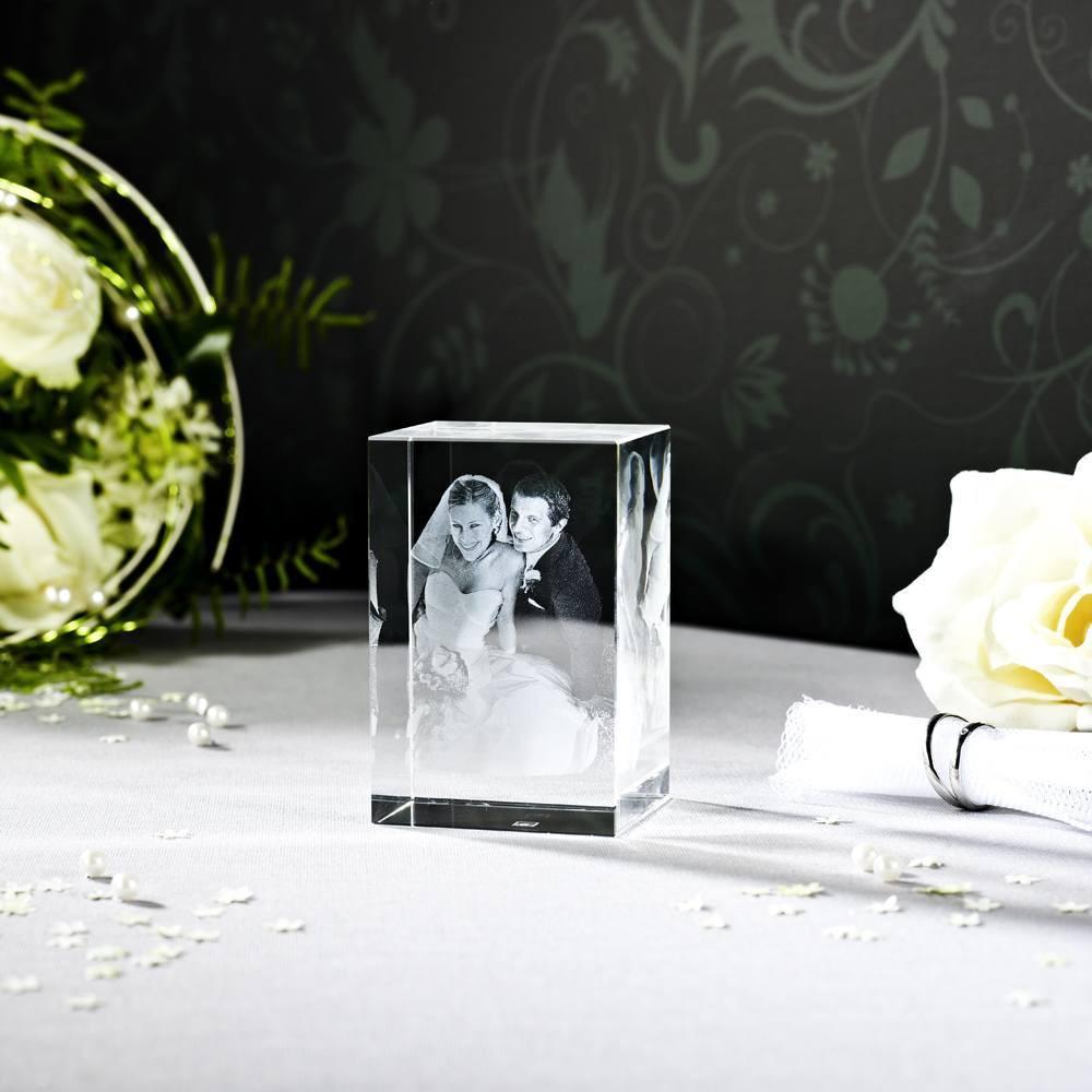 Das Hochzeitsfoto als 3D Glasfoto