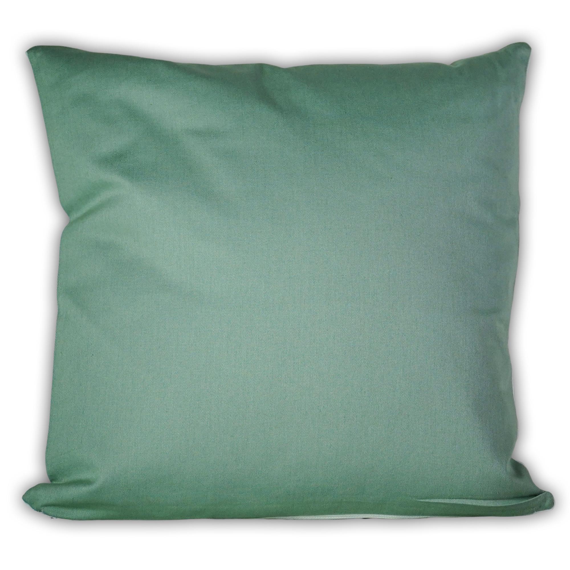 Fotokissen quadratisch zweifarbig grün