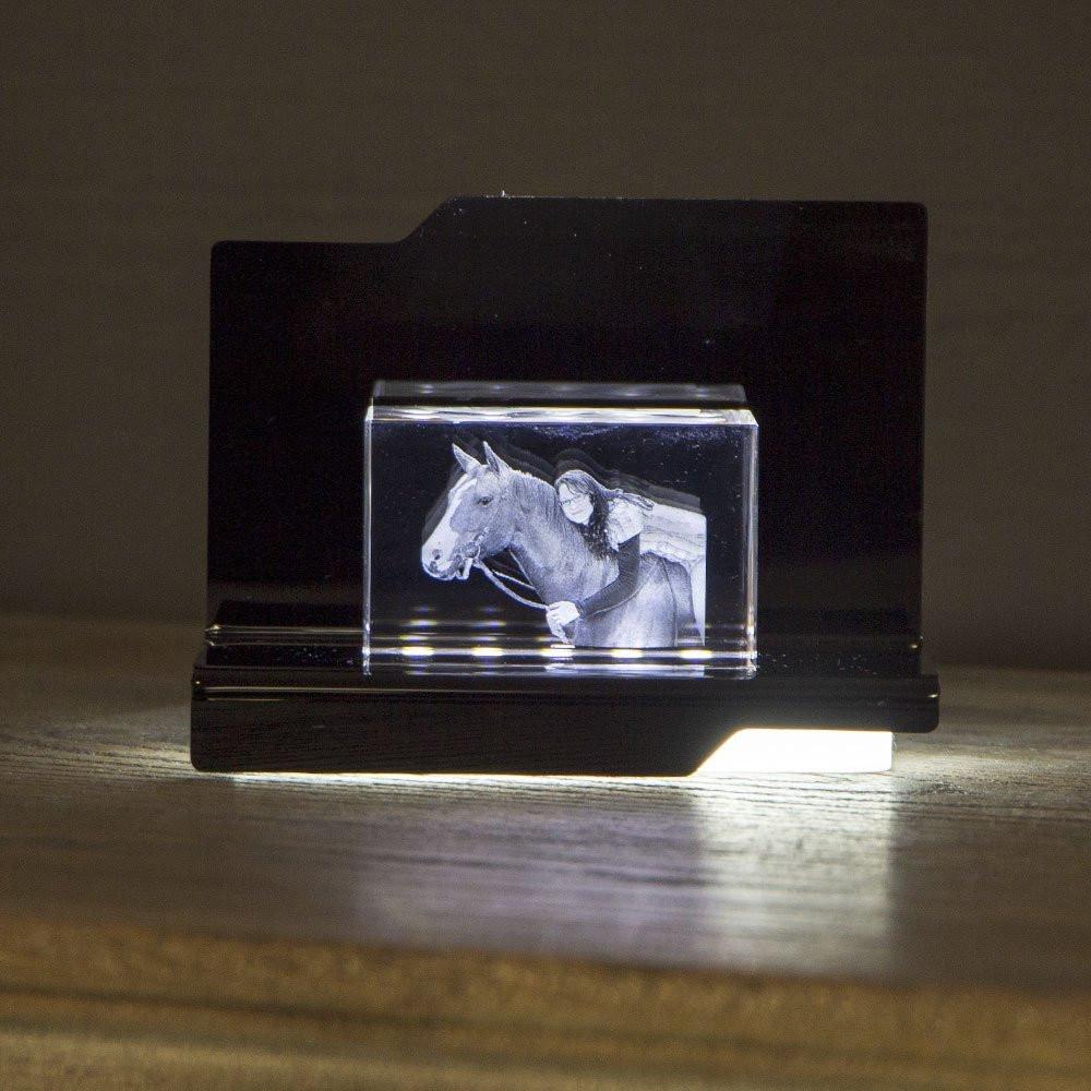 Opera Beleuchtungselement Arpeggio für den Nano im Querformat - Das 3D Laser Foto im Nano Viamant Glas ist nicht im Lieferumfang enthalten