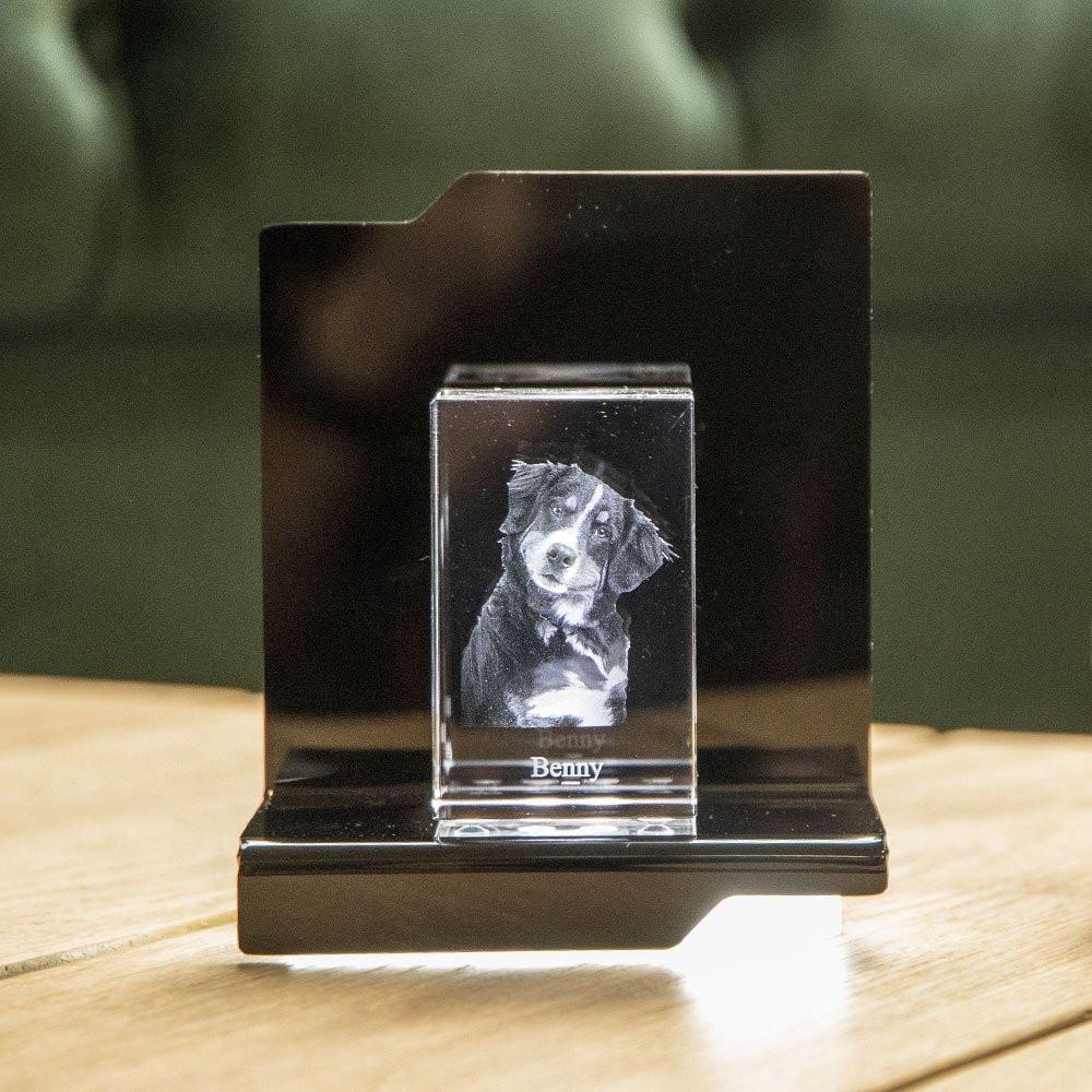 Opera Beleuchtungselement Kantate für den Nano im Hochformat - Das 3D Laser Foto im Nano Viamant Glas ist nicht im Lieferumfang enthalten