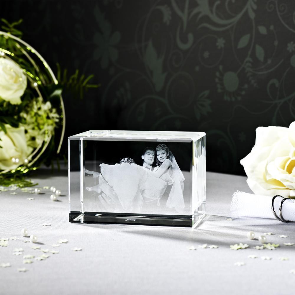 Ihr Hochzeitsfoto als 3D Glasfoto