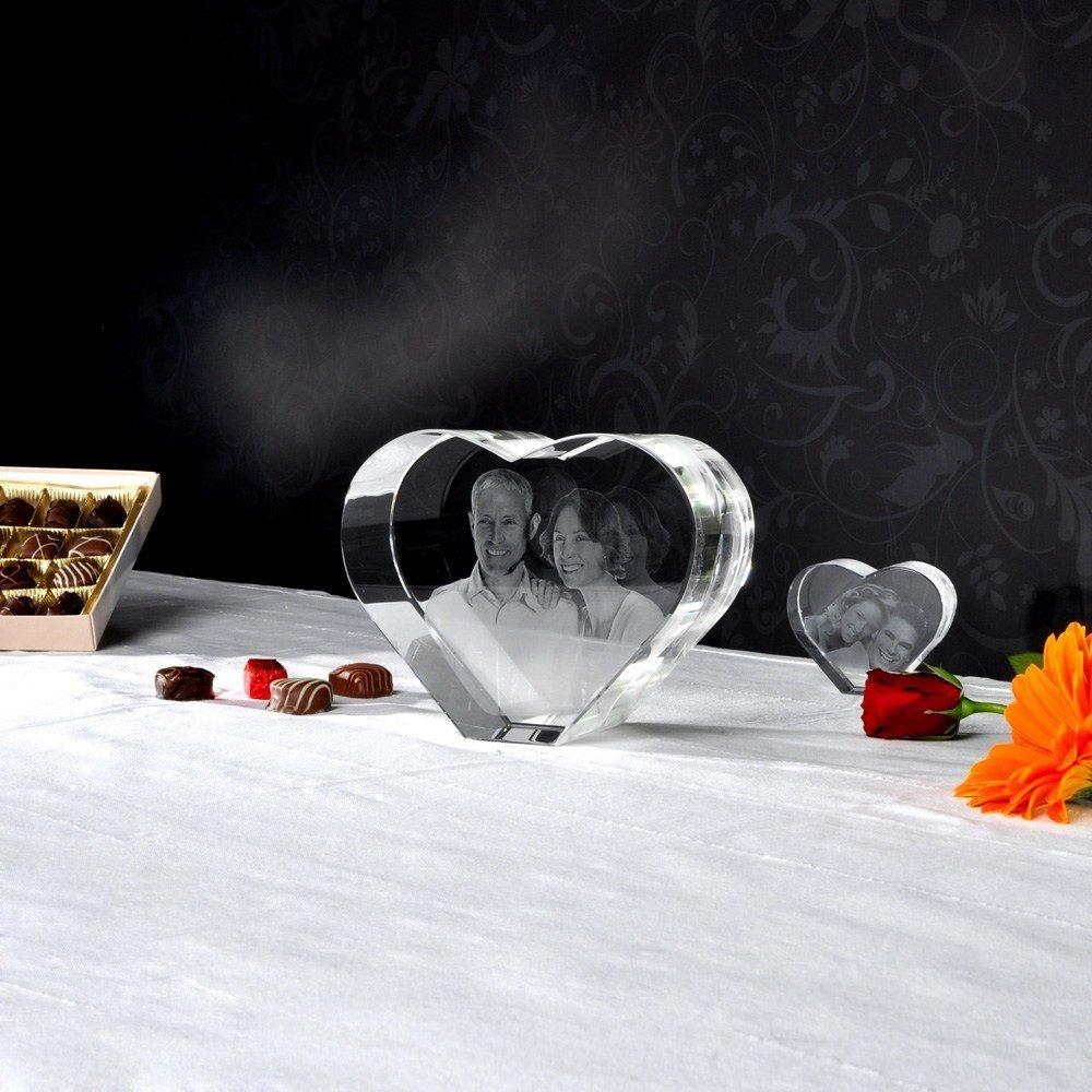 Individuellfotogeschenke - 3D Laser Foto im Glaserz Viamant , Größe XL (ca. 16x13x8 cm) - Onlineshop Looxis
