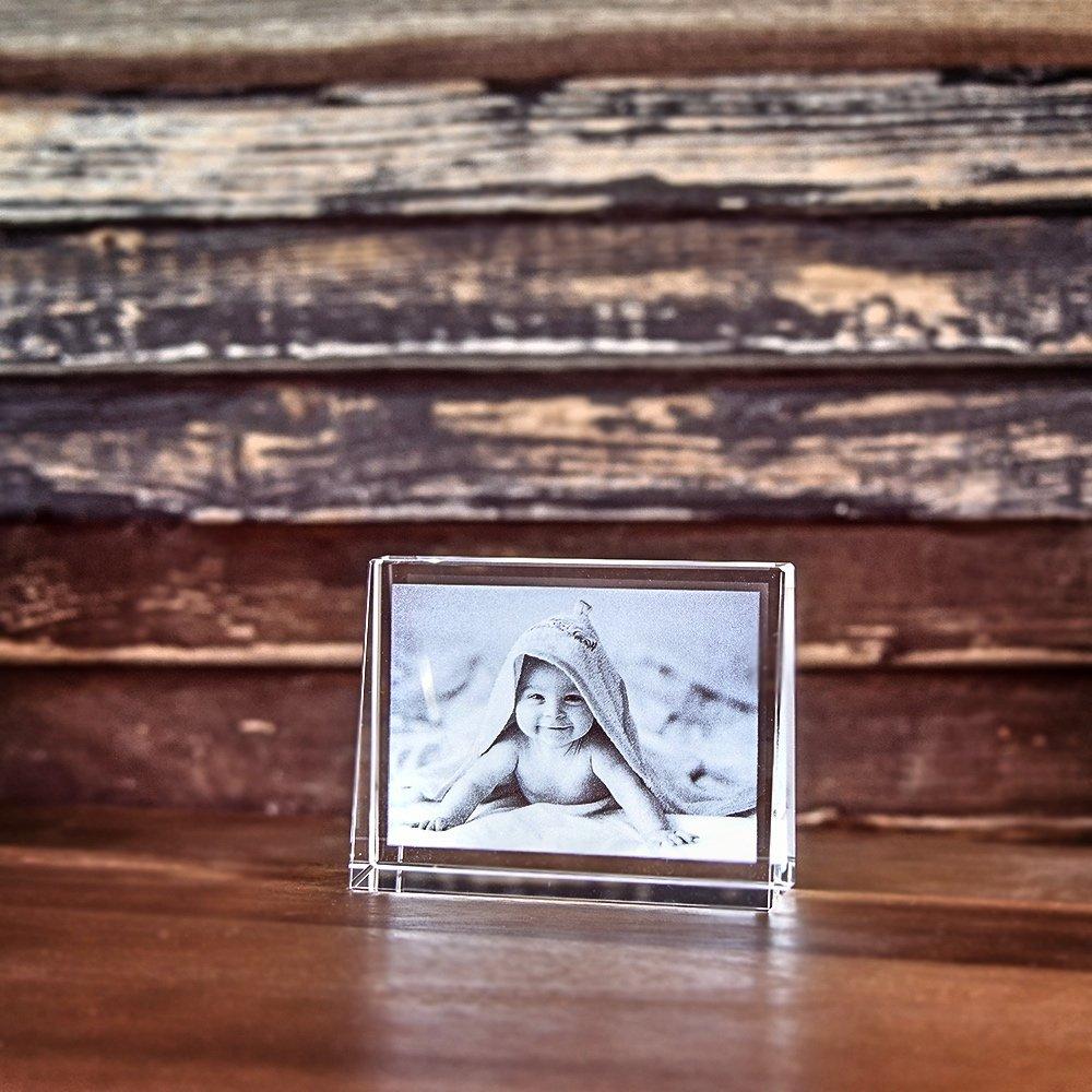 Individuellfotogeschenke - 2D Laser Foto im Glas, Prisma Querformat Größe S (80x60x25mm) - Onlineshop Looxis