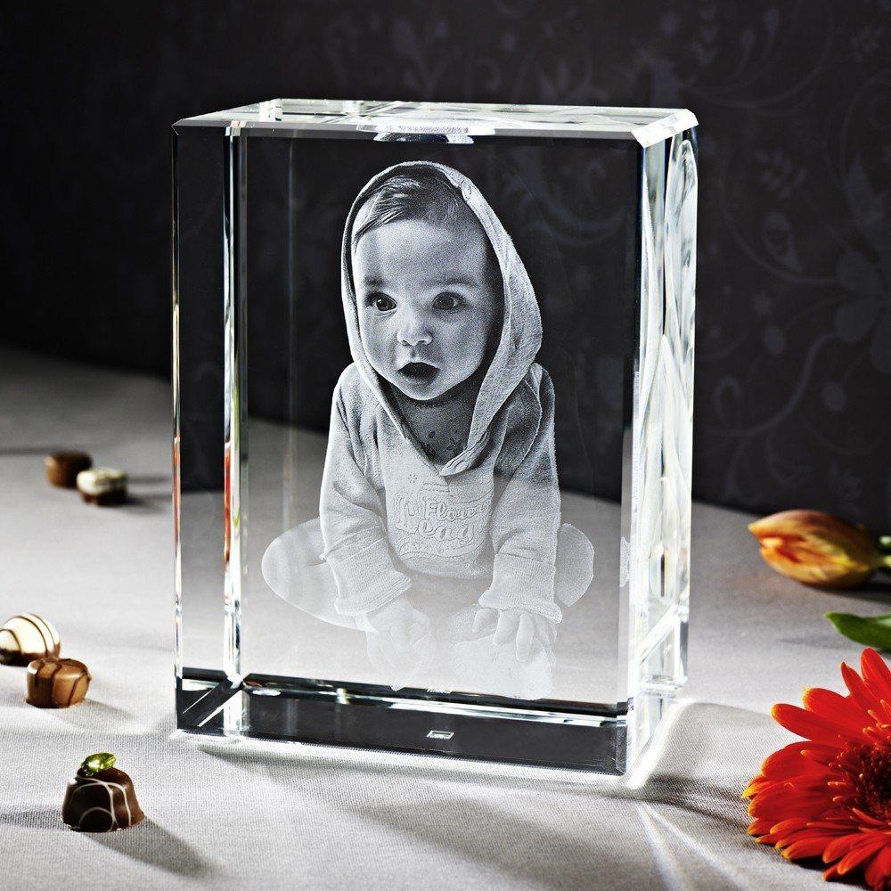 3D Laser Foto im Glas Terra Viamant , Größe 4XL (27x20x12 cm) als Hochformat oder Querformat