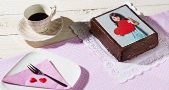 Kuchen mit individuellem Fotoaufleger