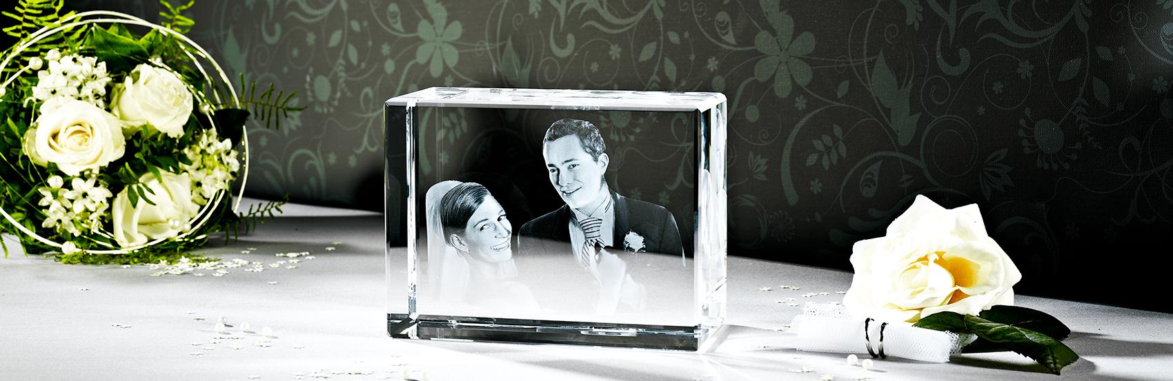 Das 3D Laser Foto ist perfekt geeignet für Ihr Hochzeitsfoto.