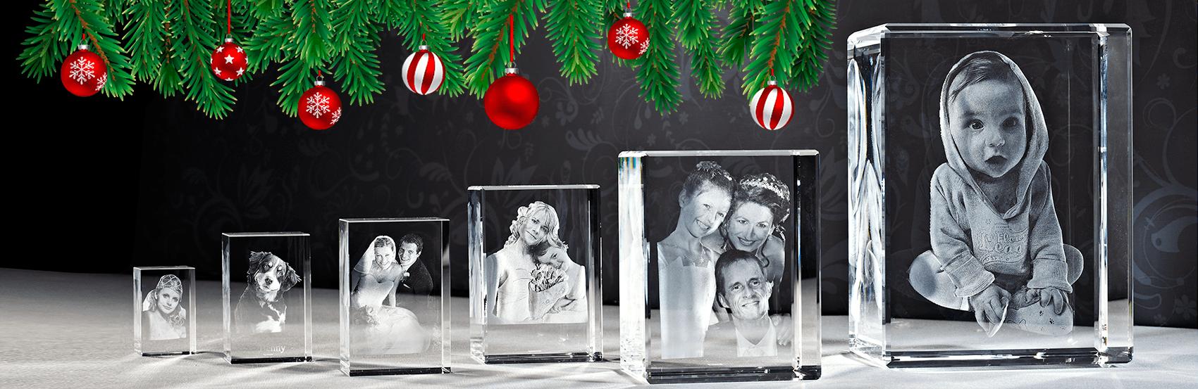 Das 3D Laser Foto ist das perfekte Weihnachtsgeschenk.