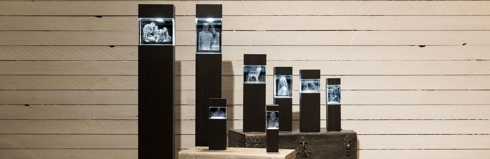 Komplettieren Sie ihr 3D Glasfoto zum attraktiven Wohnaccessoire