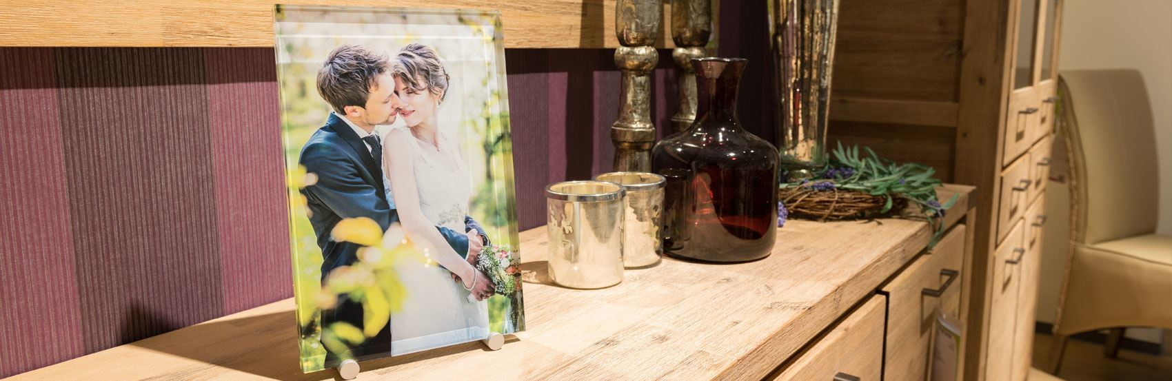 Your color photo printed onto crystal glass.