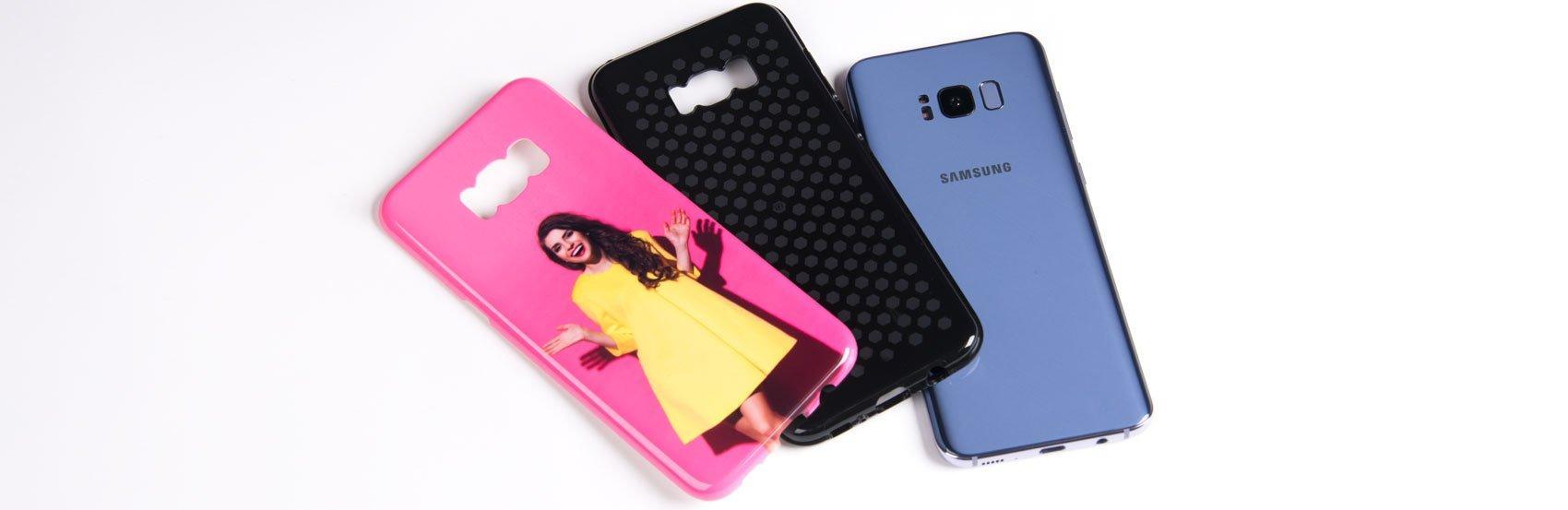 Handyhülle für Samsung Galaxy S8 mit flexibler innerer TPU Hülle und äusserer harter Schale mit Foto (Dual Protect)
